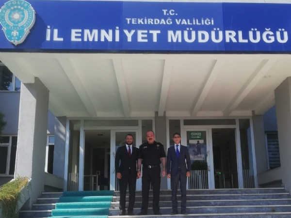 Tekirdağ İl Emniyet Müdürü Mustafa Aydın'a Ziyaret.